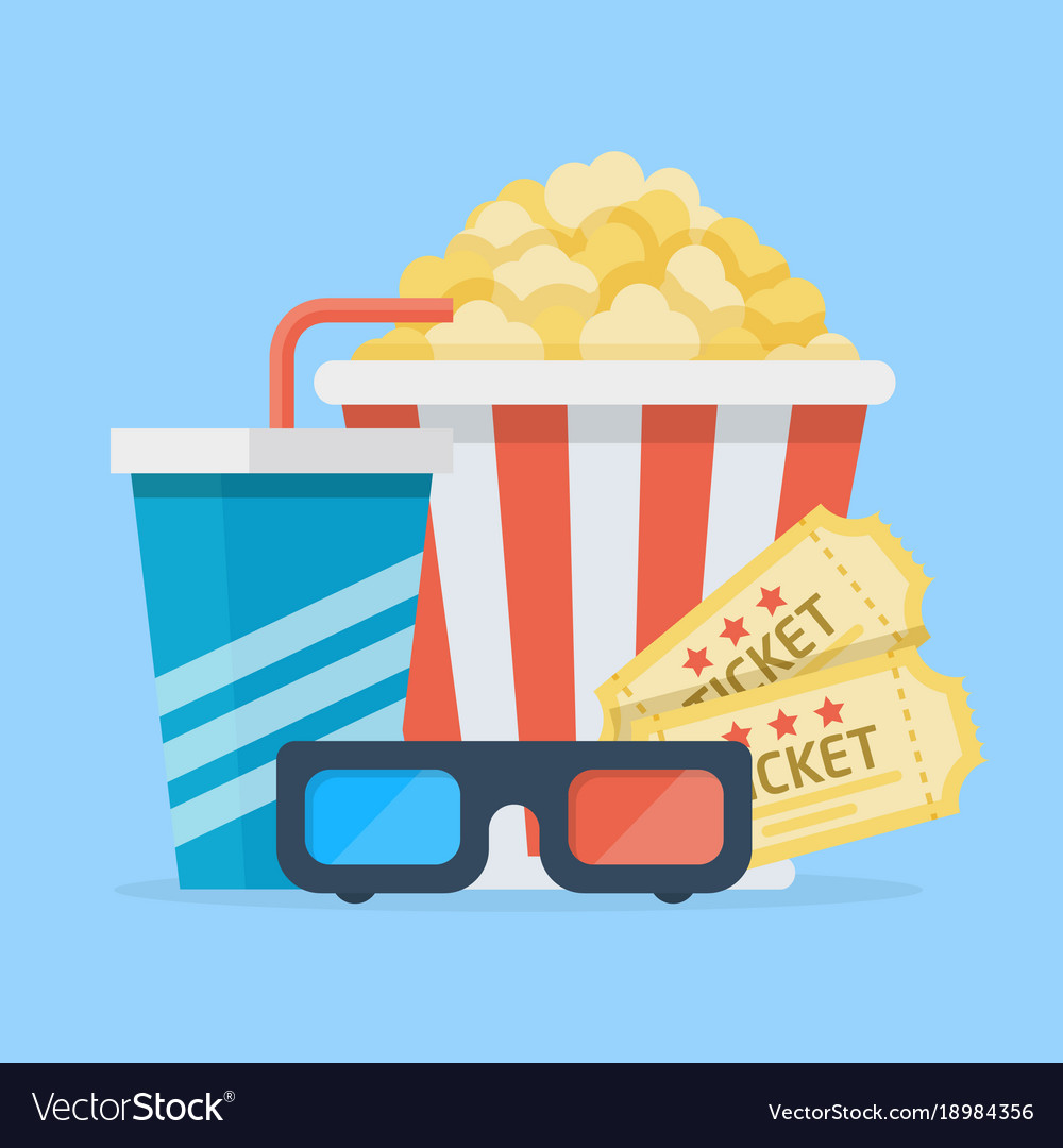 Cinema set vector image