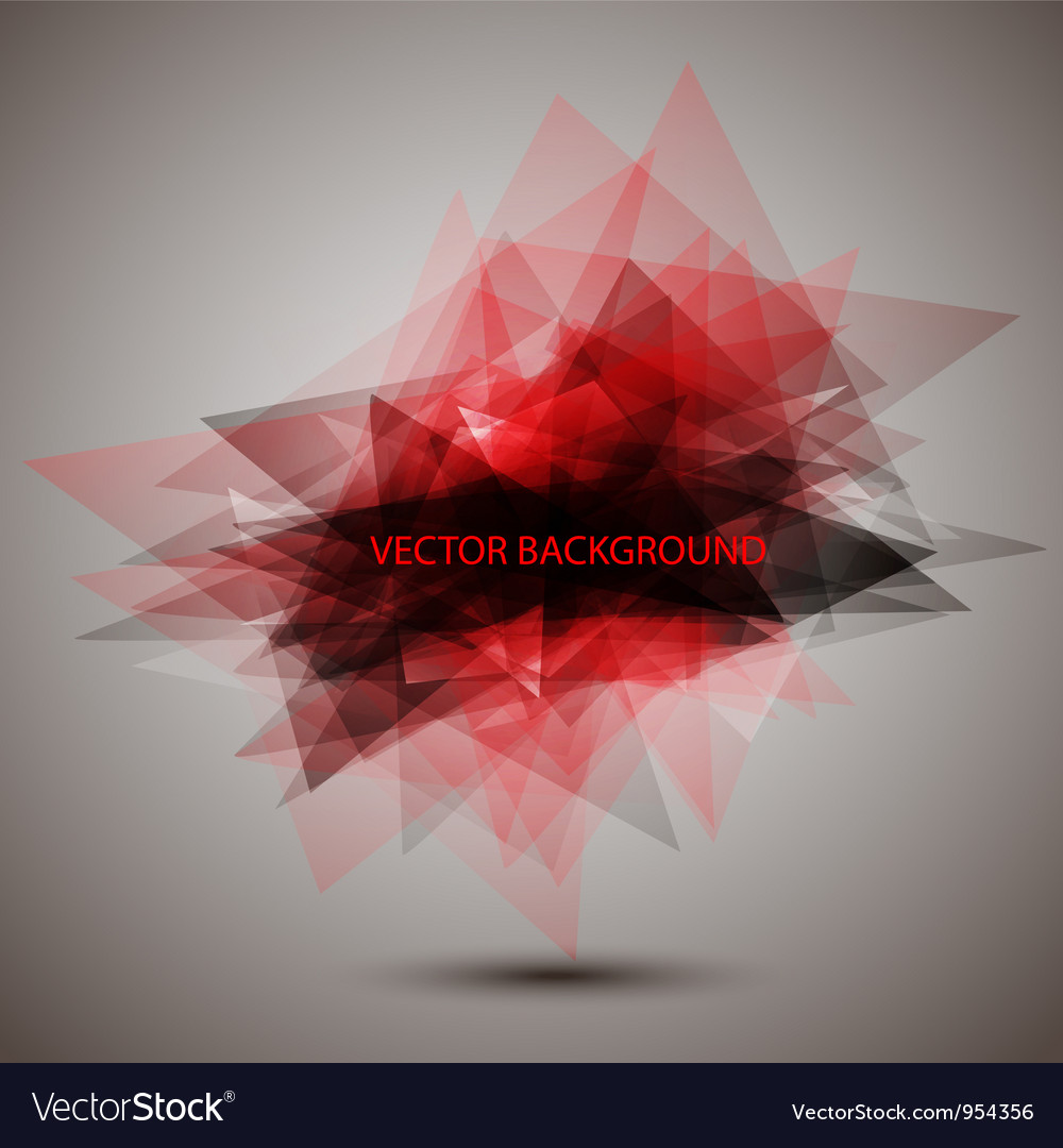 Modern geometric red background vector image