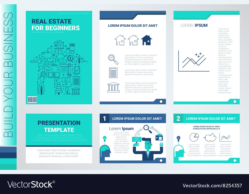 Book cover and presentation template vector image