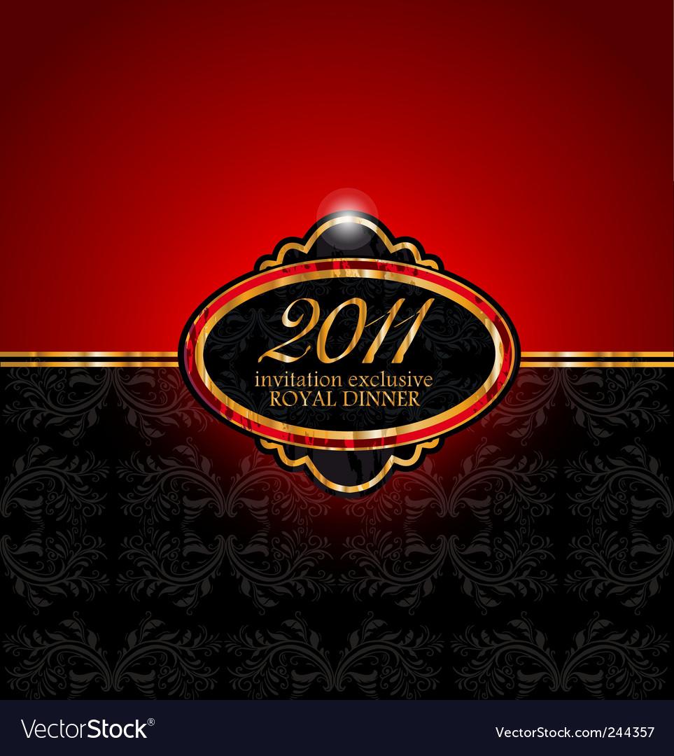 Royal dinner invitation 2011 vector image