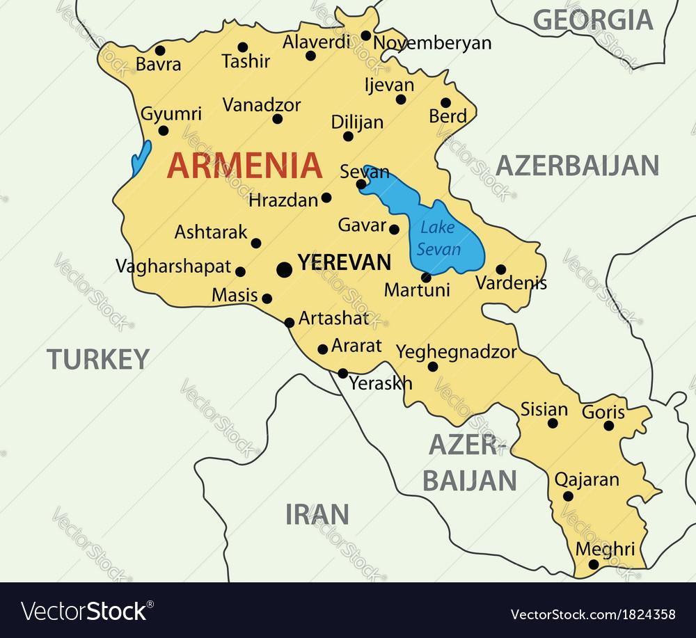 Republic of Armenia map Royalty Free Vector Image