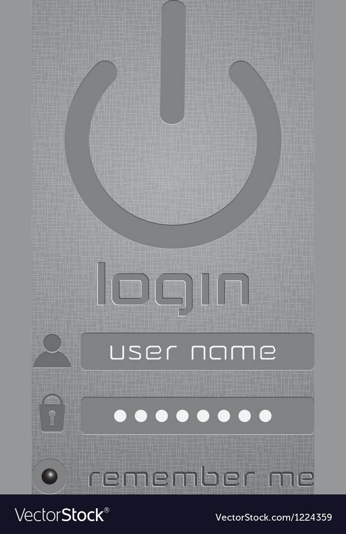 Stylish login page vector image