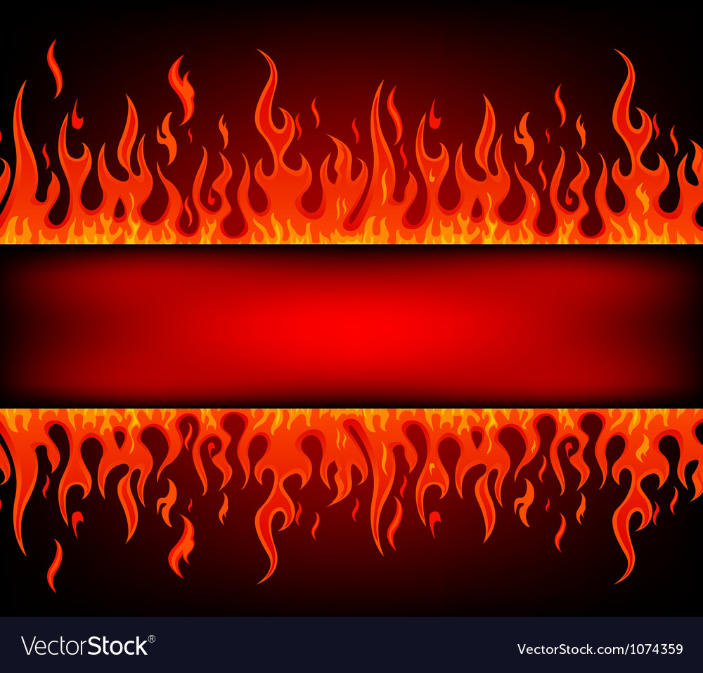 Fire stripe with free space vector image