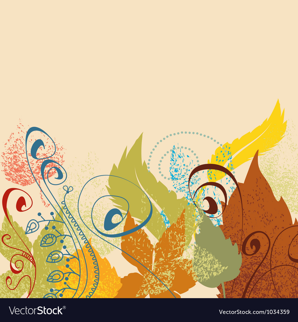 Leaf background in autumn colors vector image