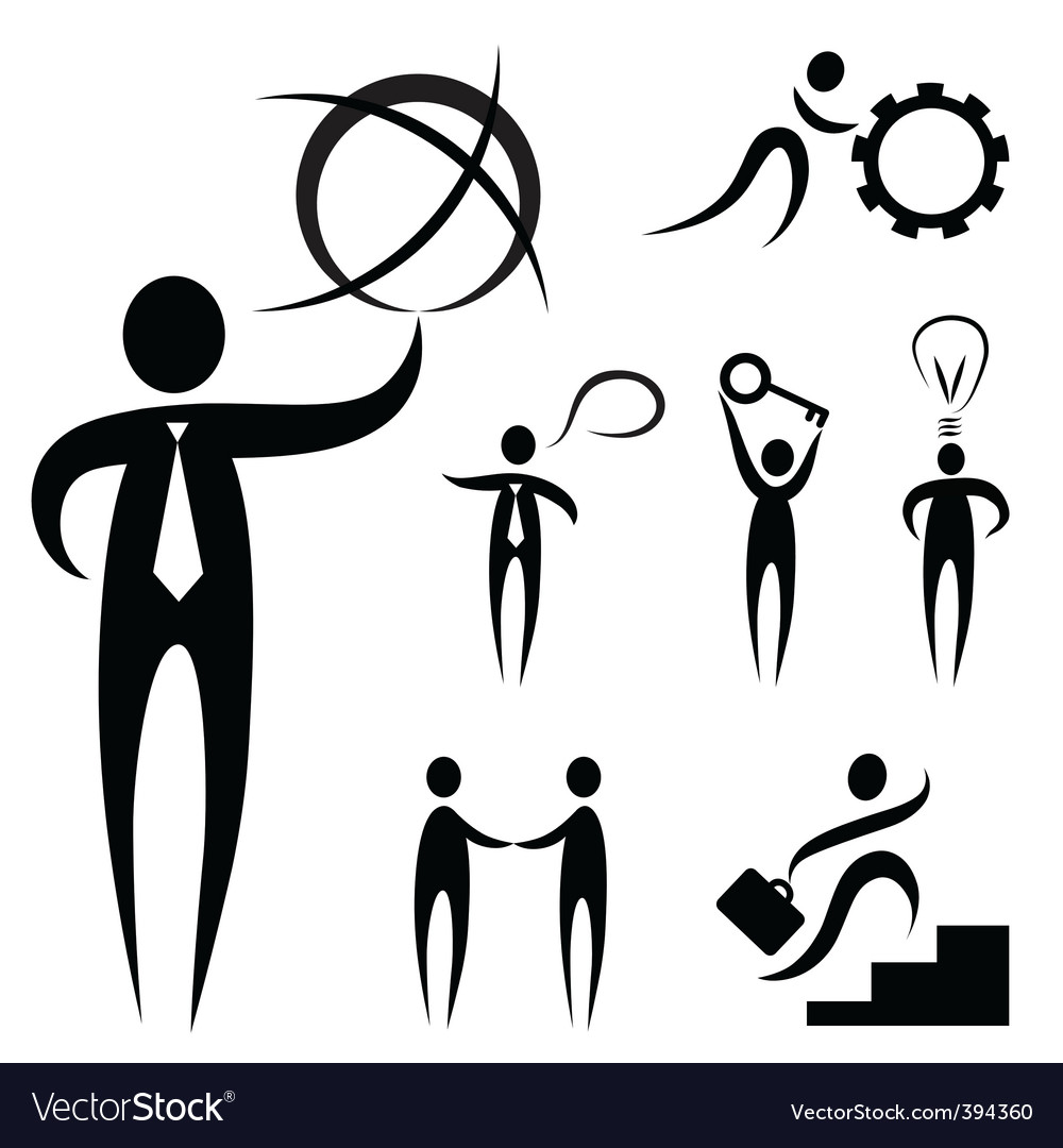 Business people symbol vector image