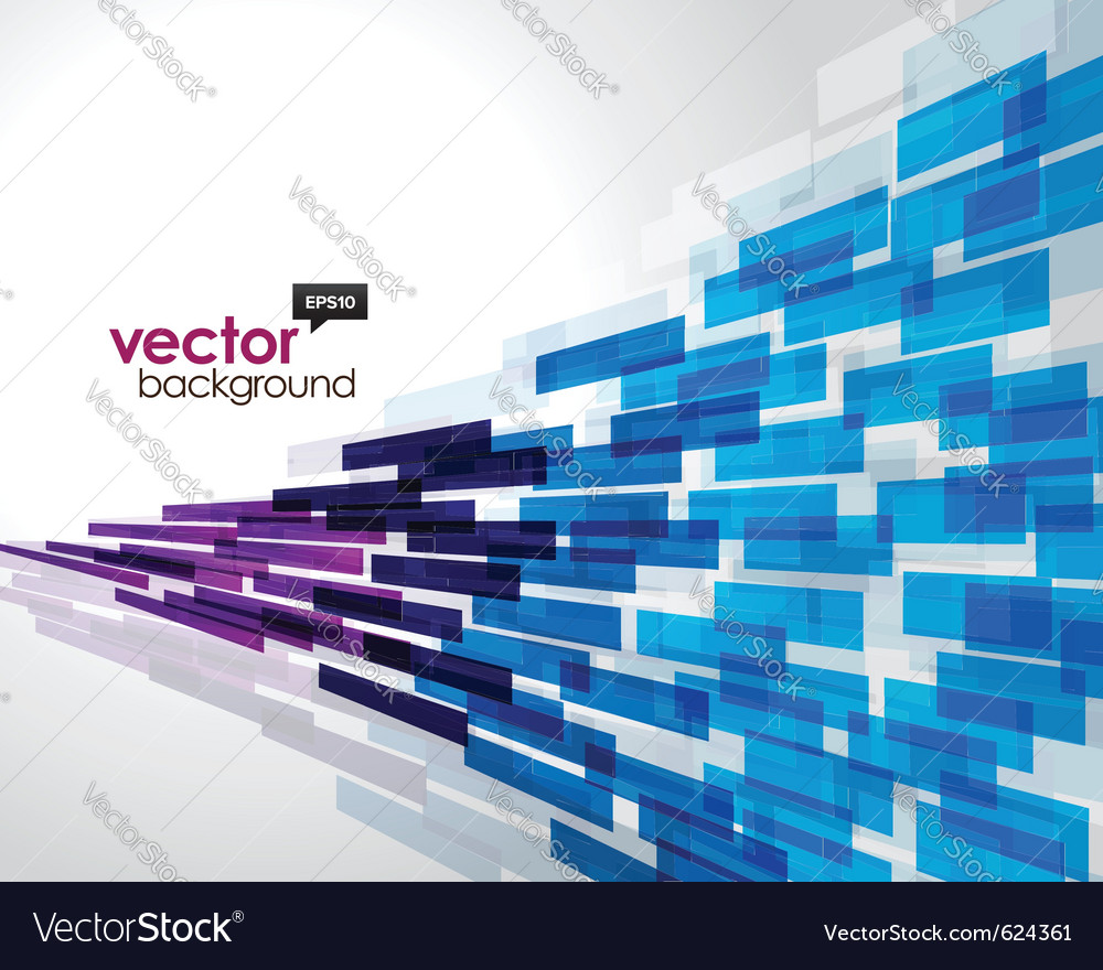 Flying abstract background vector image
