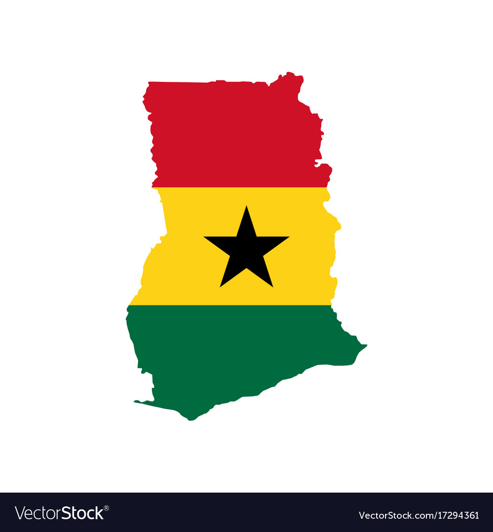 Ghana Flag And Map Royalty Free Vector Image VectorStock - Ghana map vector