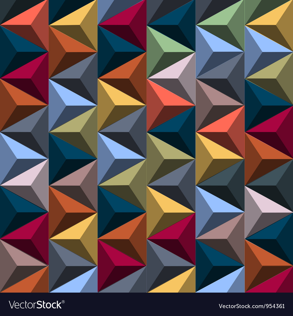 Multicolored background from pyramids vector image