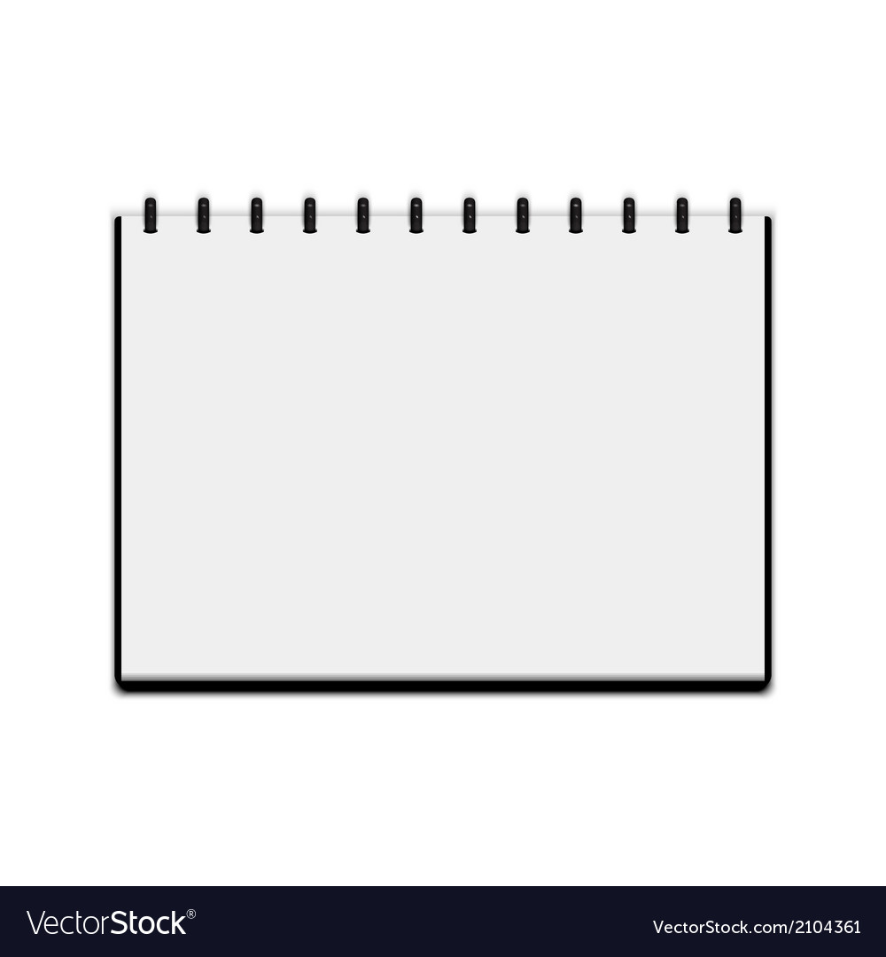 Sketchbook isolated on white background vector image