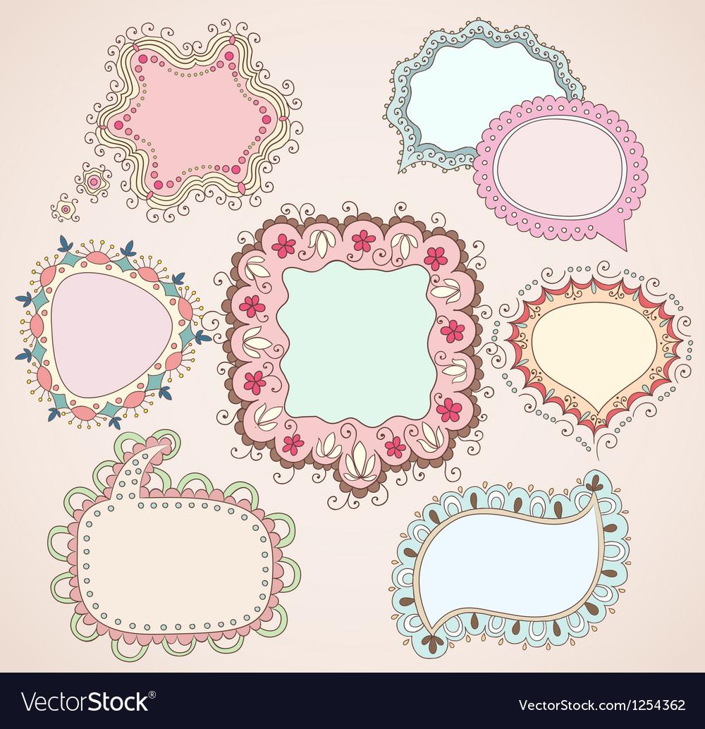 Babydrawn bubbles vector image