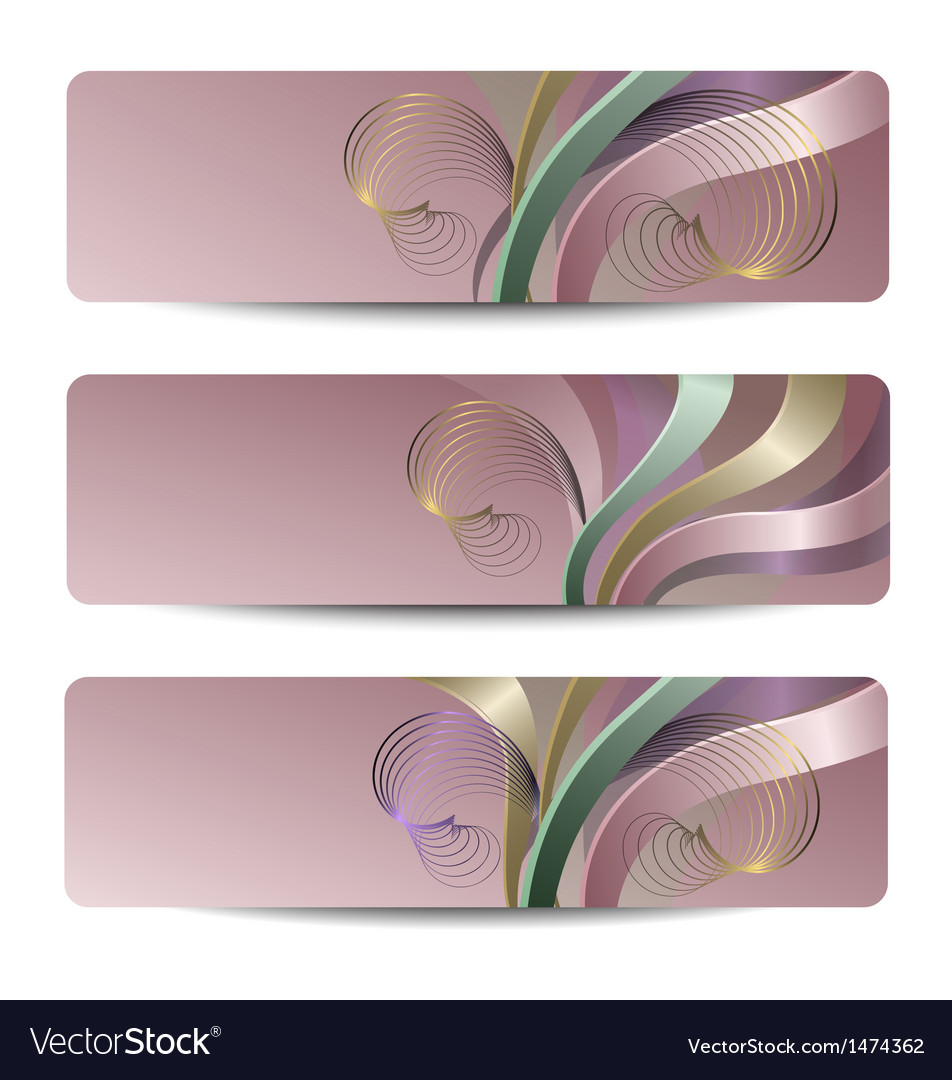 Abstract headers vector image