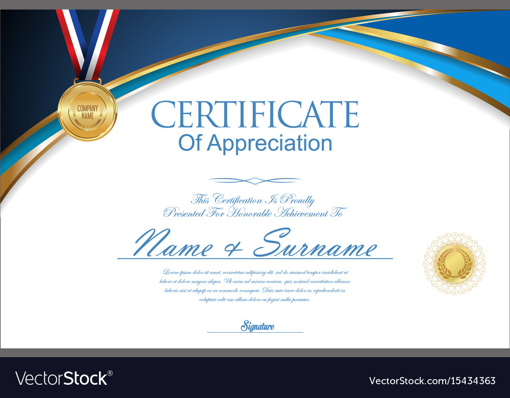 Certificate or diploma retro design collection vector image yadclub Gallery