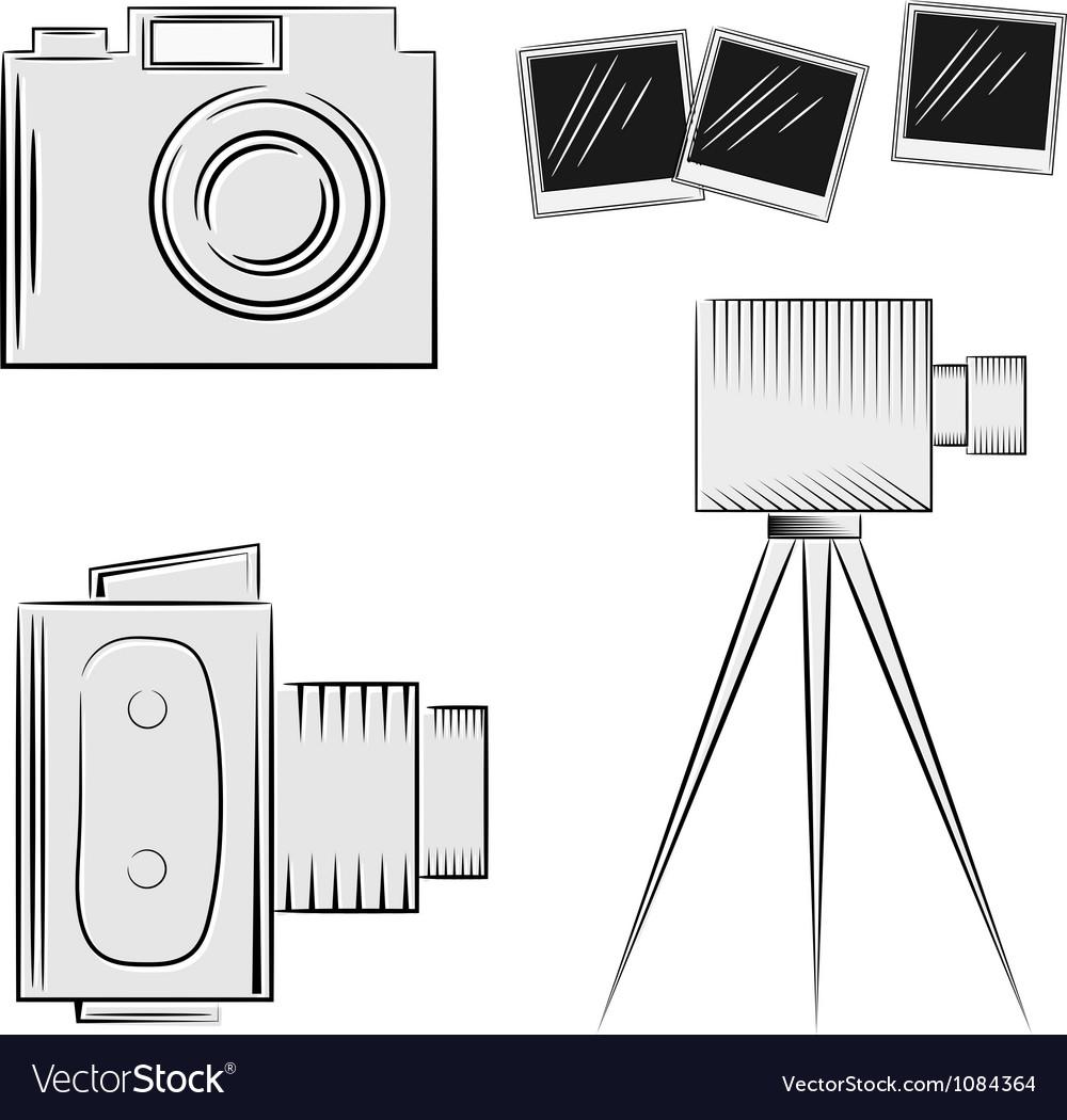 A set of cameras eps10 vector image