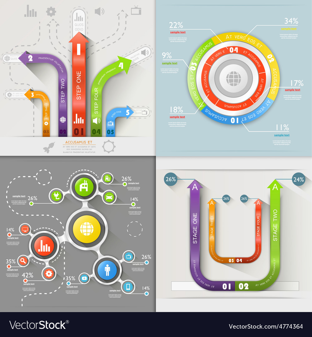Infographic Arrows Circuit Business Marketing vector image