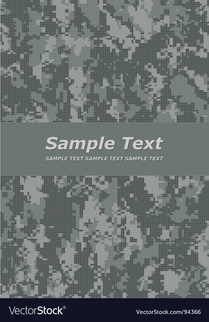 Camouflage title Vector Image