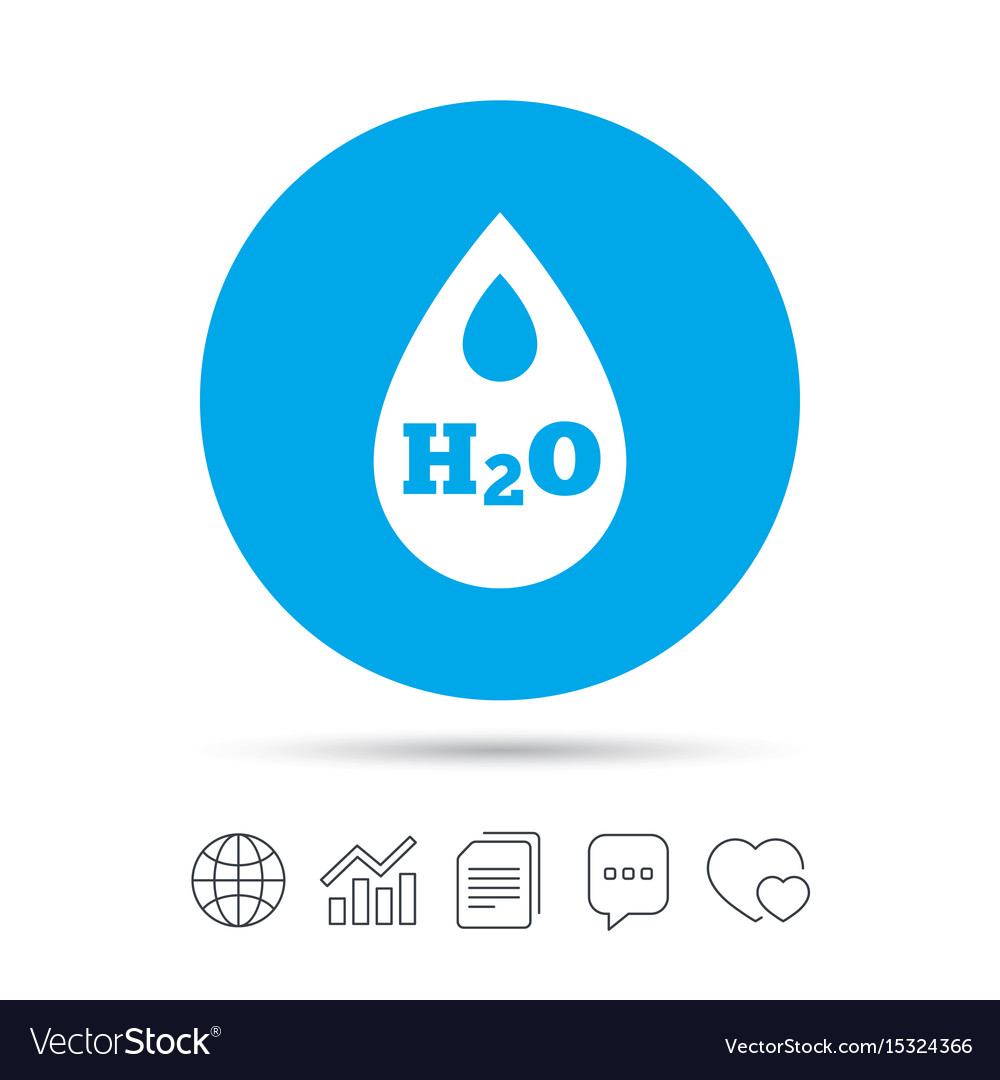 H2o water drop sign icon tear symbol royalty free vector h2o water drop sign icon tear symbol vector image buycottarizona Choice Image