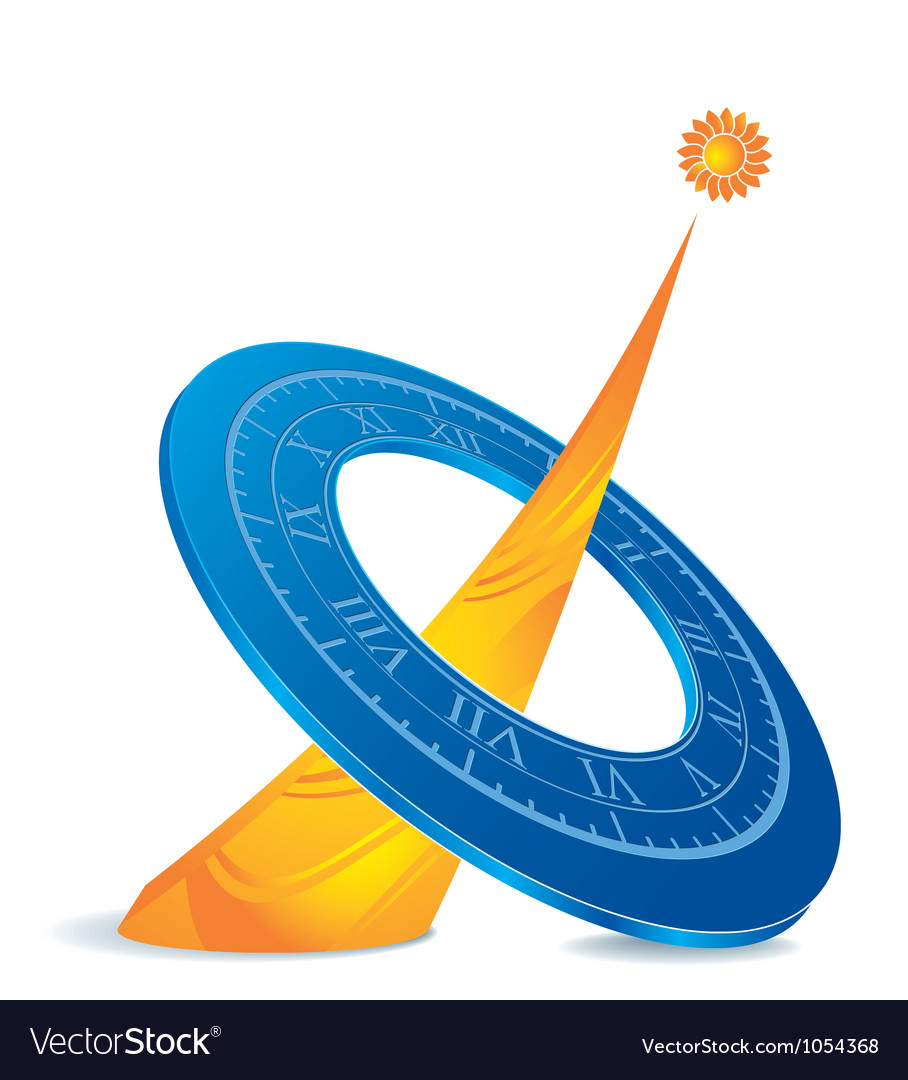 Sundial Vector Image