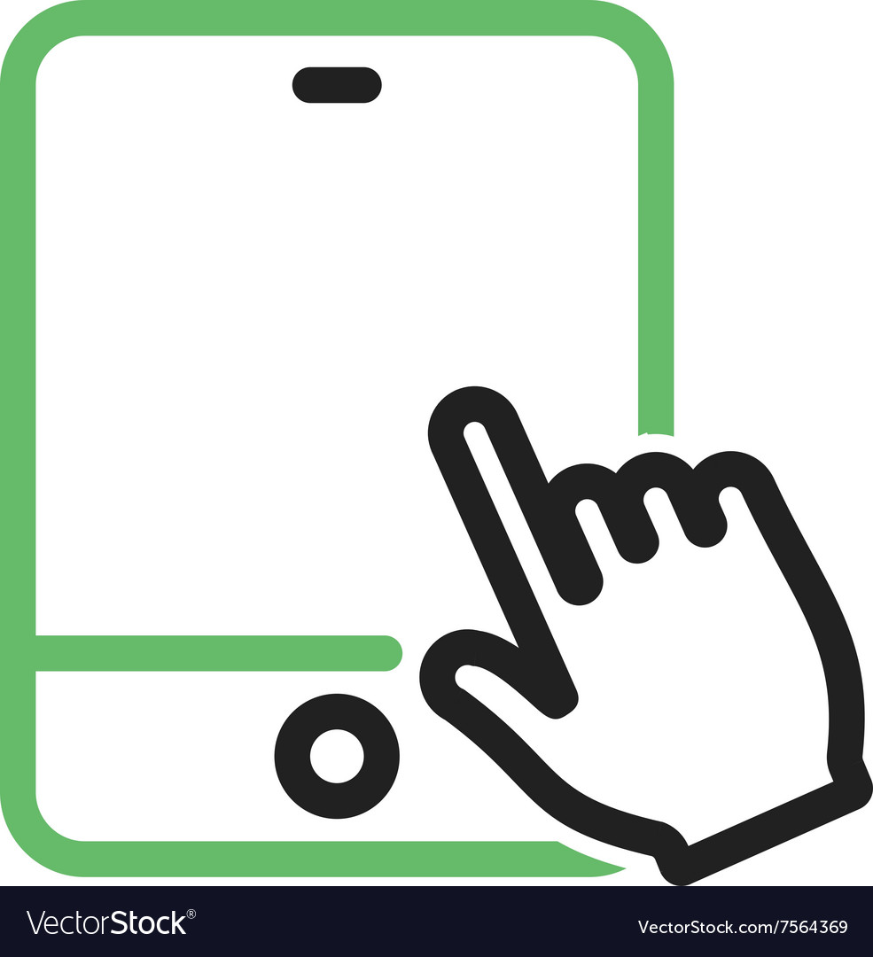 Touch Device I vector image