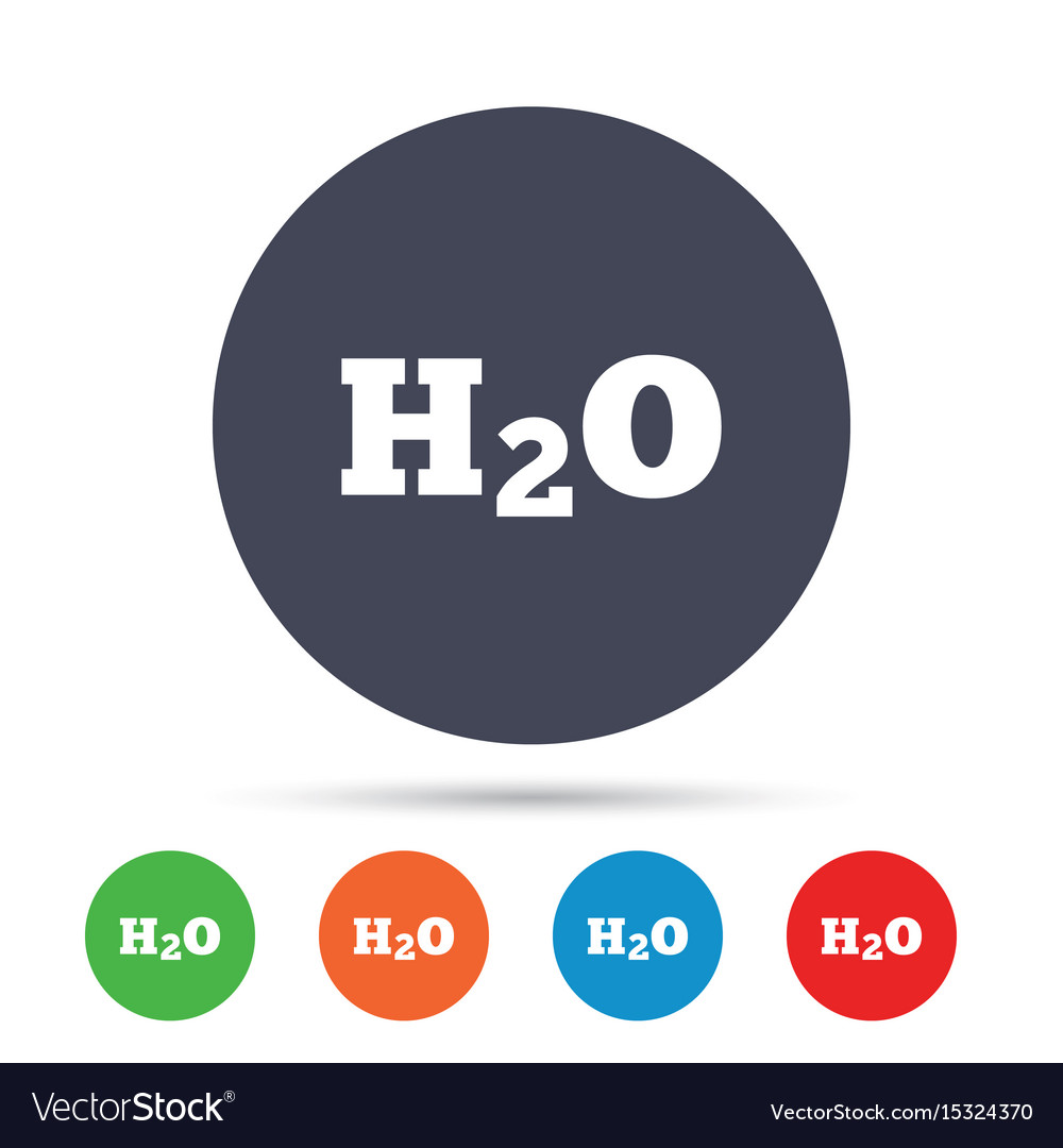 H2o water formula sign icon chemistry symbol vector image buycottarizona Choice Image