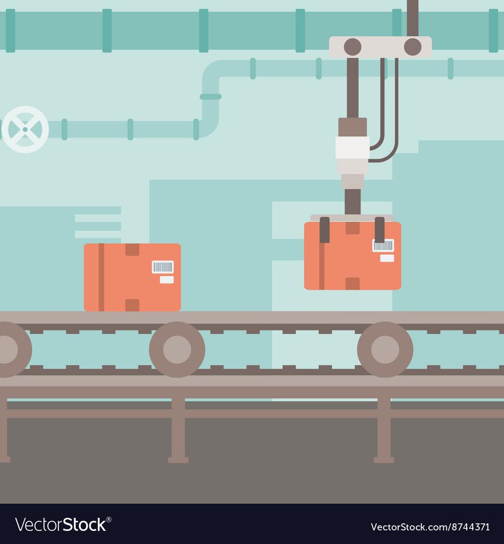conveyor belt vector. background of conveyor belt vector image f