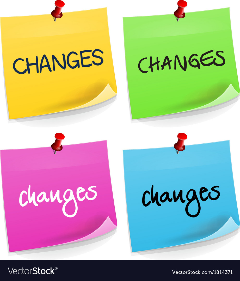 Changes Sticky Note vector image
