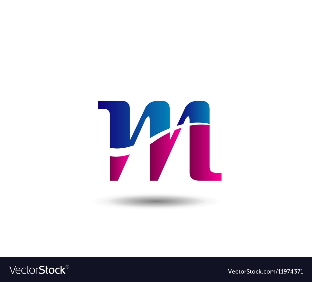 M company logo and symbol Design vector image