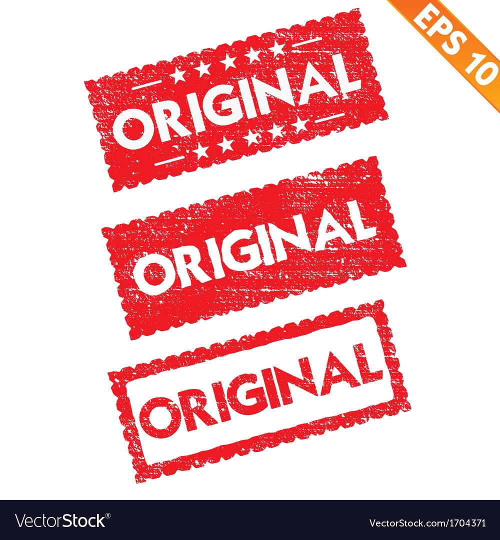 Stamp sticker original tag collection - - E vector image
