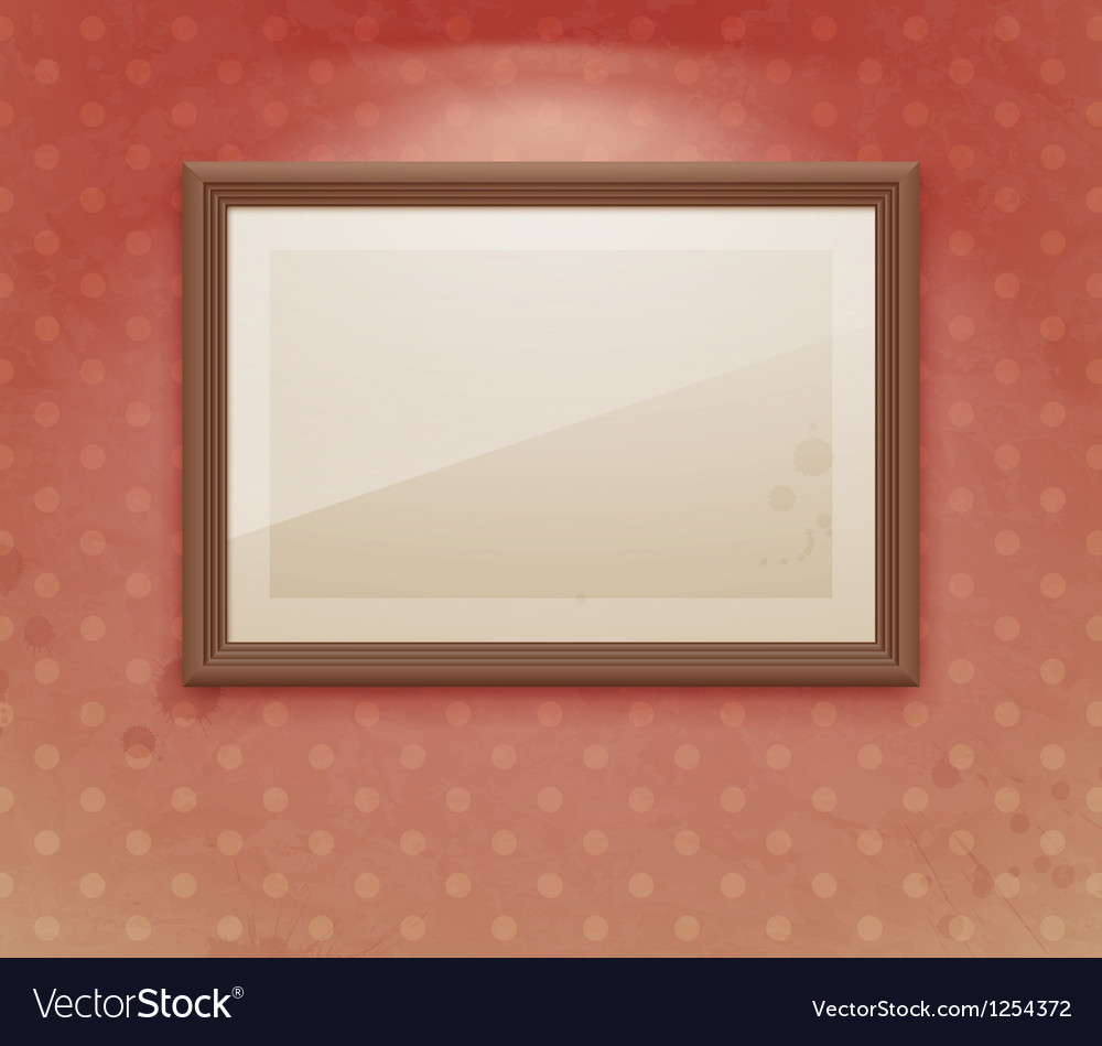 Exhibition vintage dot vector image
