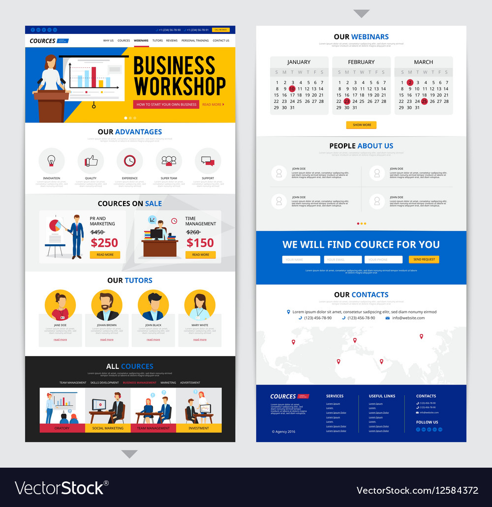 Web Page Business Training vector image