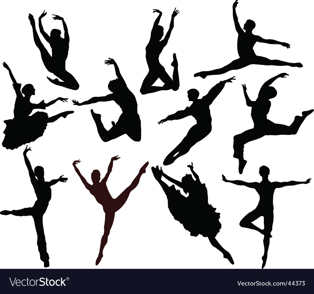Ballet silhouettes vector image