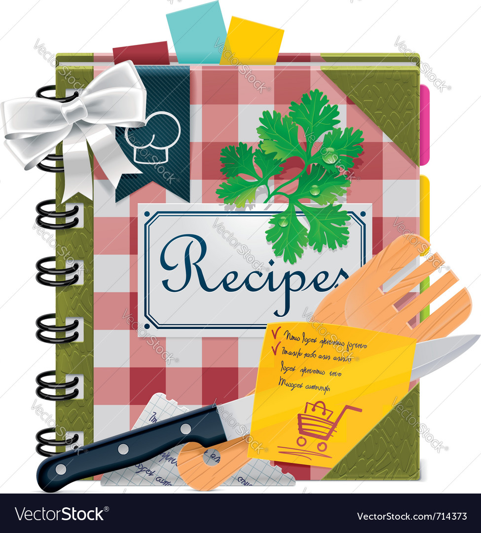 Cooking book xxl icon Royalty Free Vector Image