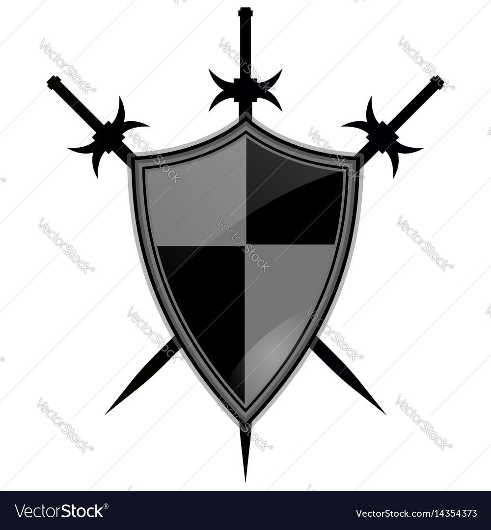 Templar shield icon vector image