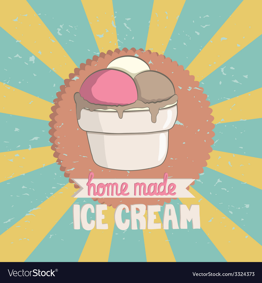 VintageIceCream vector image