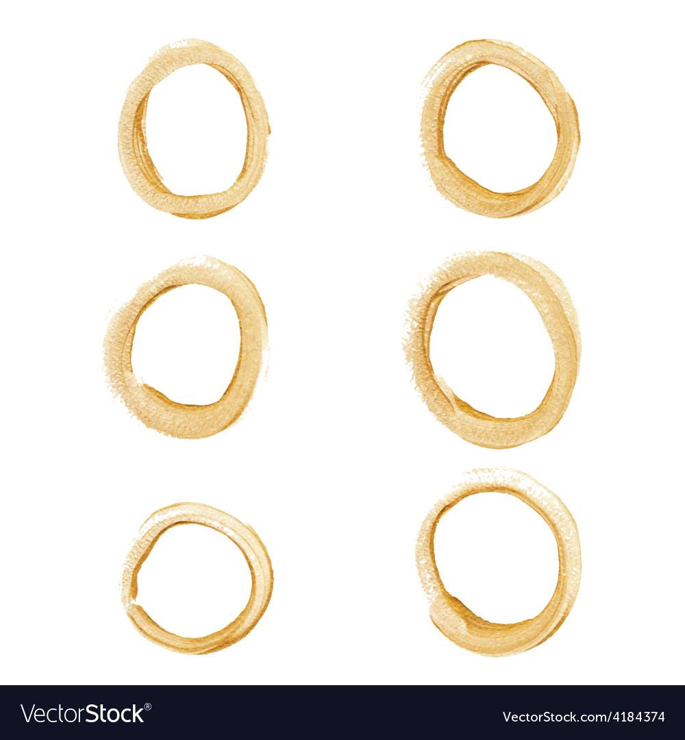 Gold circle set vector image