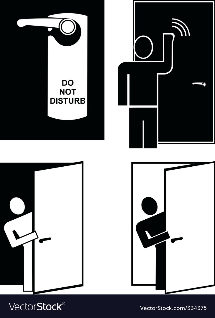 Do not disturb Vector Image