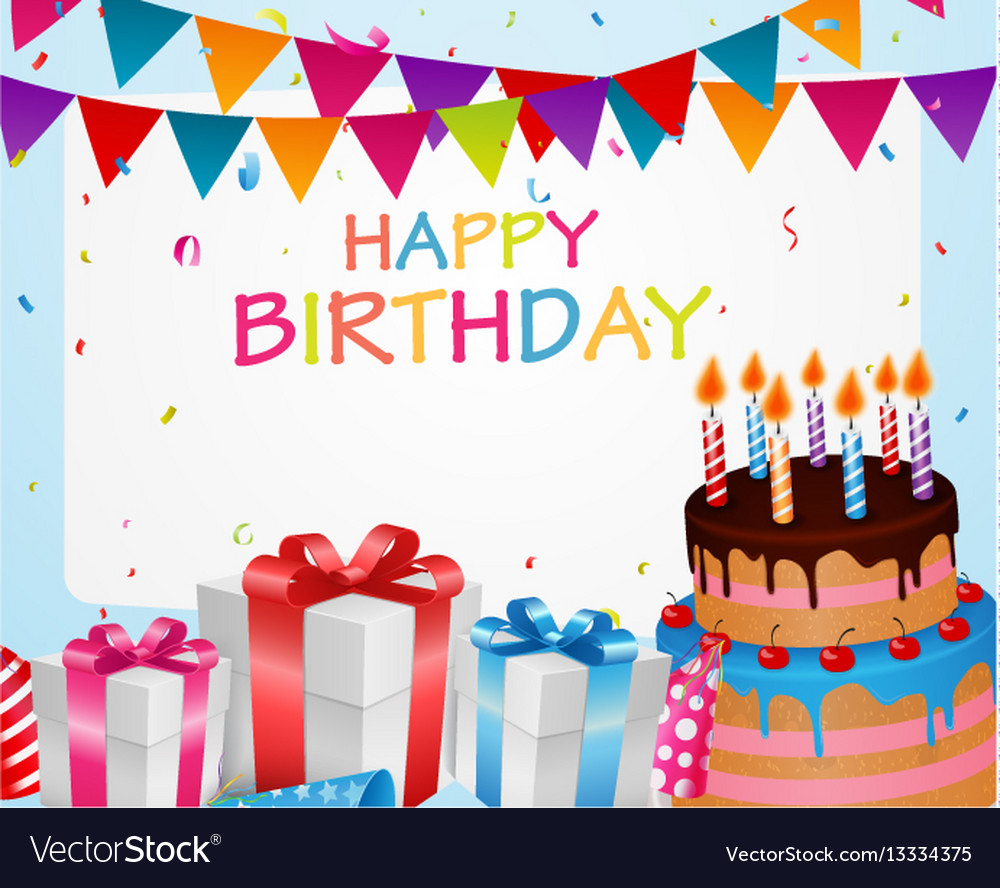 Birthday Celebration Background Royalty Free Vector Image