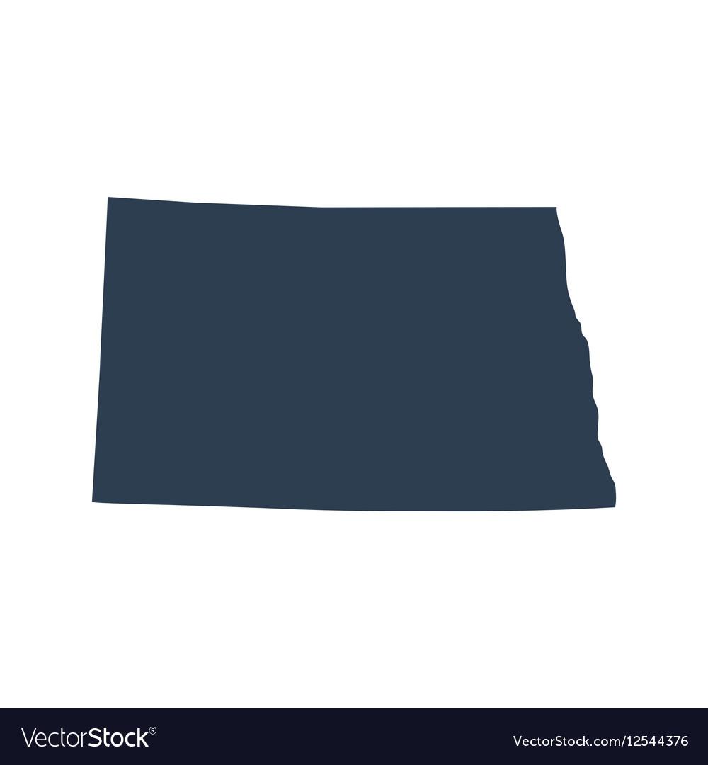 Map Of The US State North Dakota Royalty Free Vector Image - North dakota us map