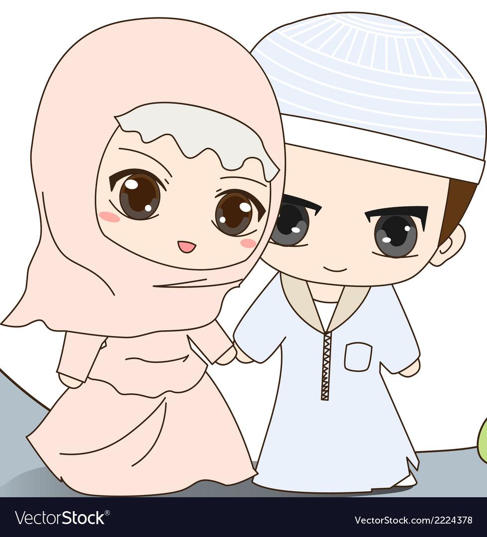 Kartun Muslimah Wedding Gambar Kartun