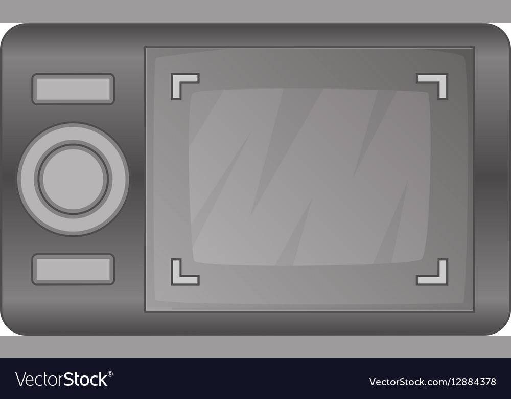 Camera viewfinder with exposure icon cartoon style vector image