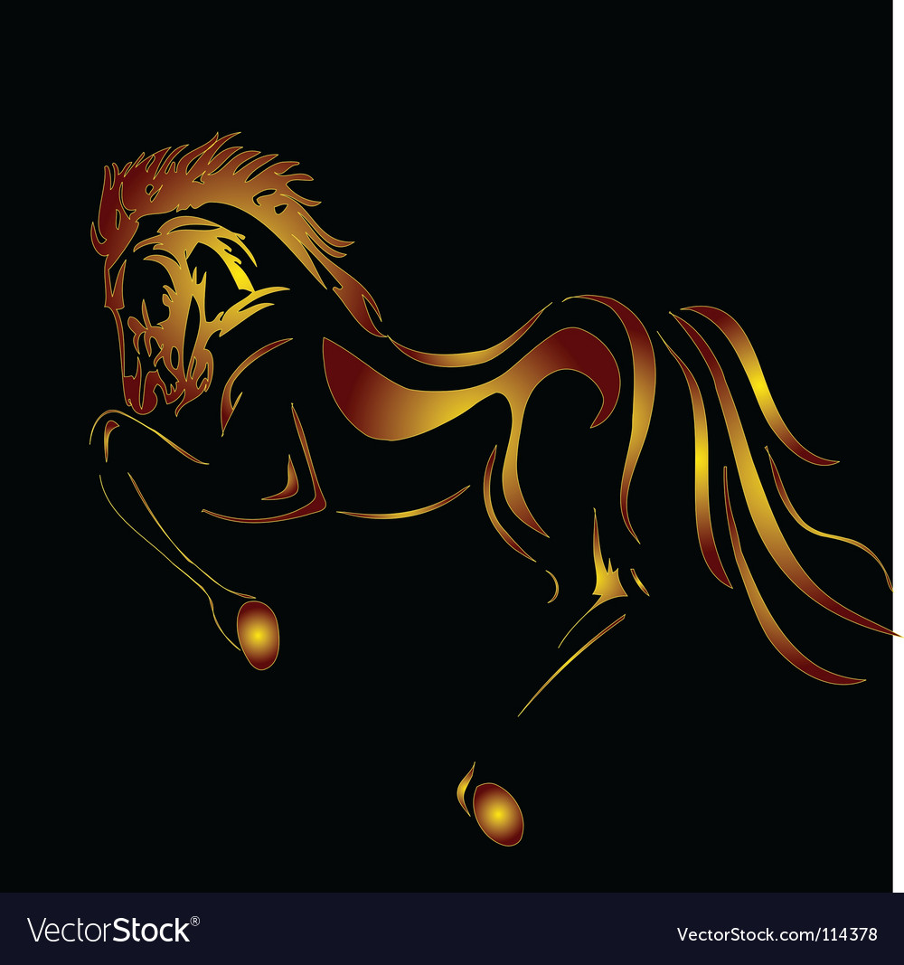 Fiery steed vector image