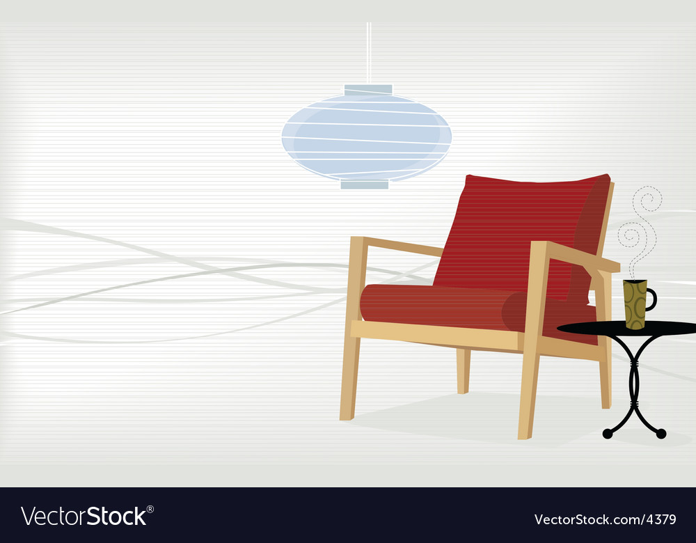 Retro-modern home vector image