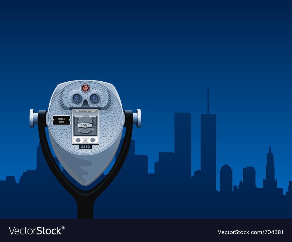 Binocular viewer vector image