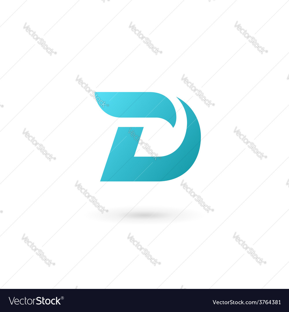 Letter D logo icon design template elements vector image