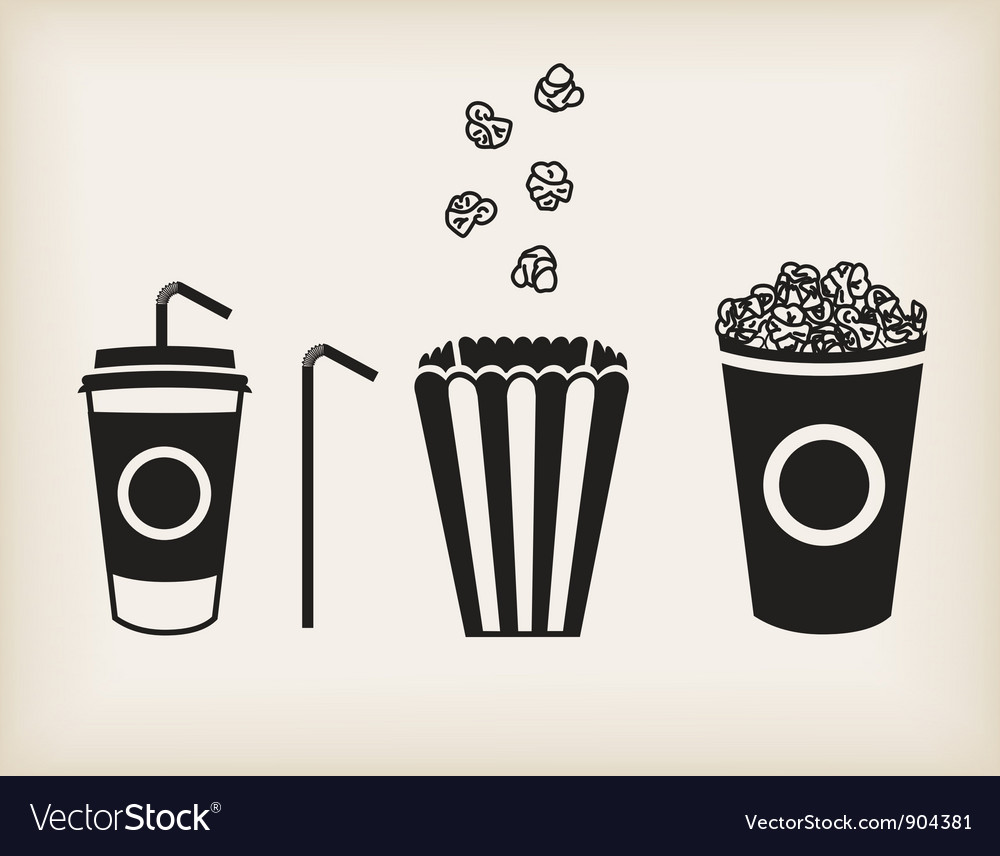 Popcorn set vector image