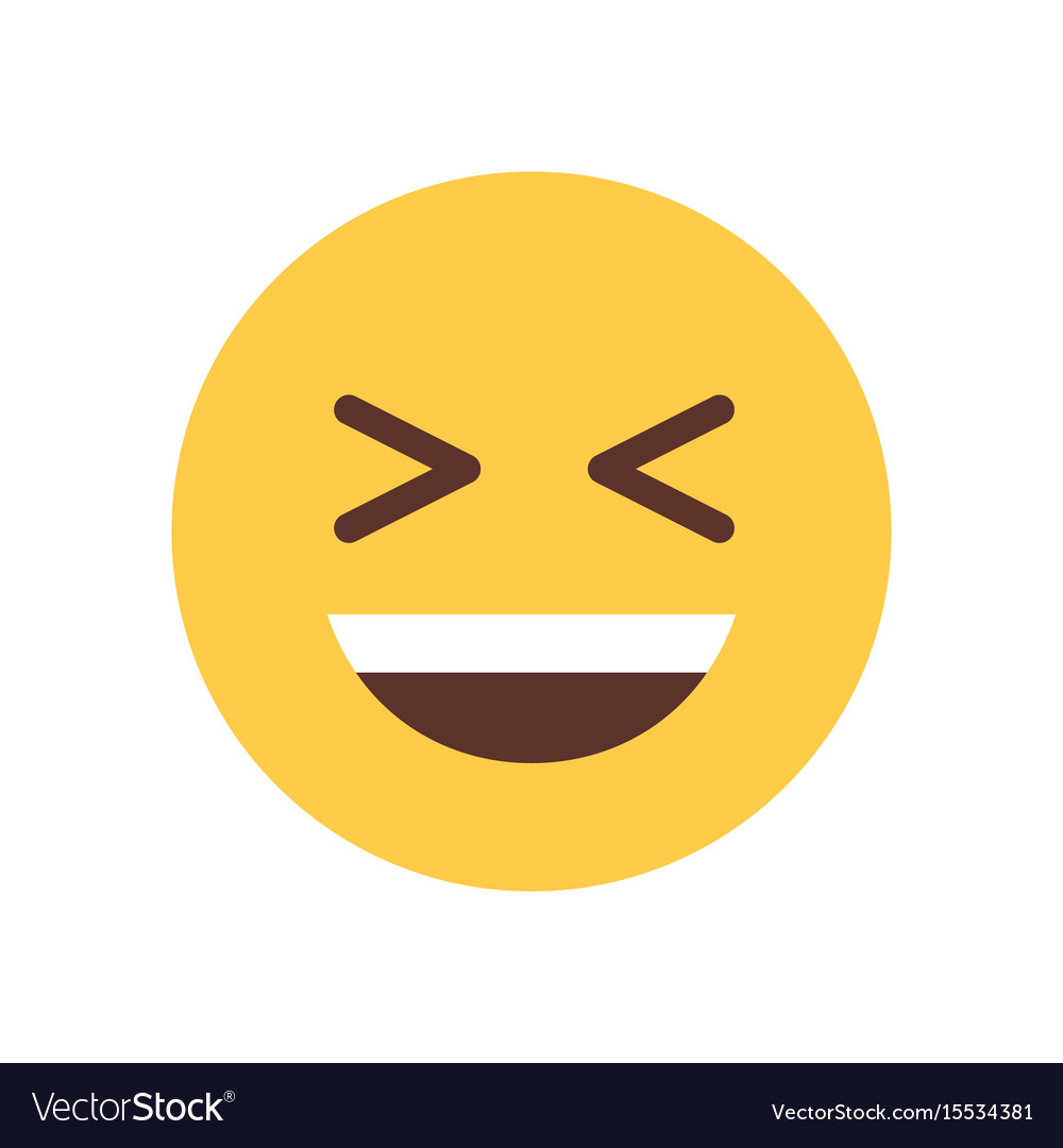 Yellow smiling cartoon face laughing emoji people vector image sciox Gallery