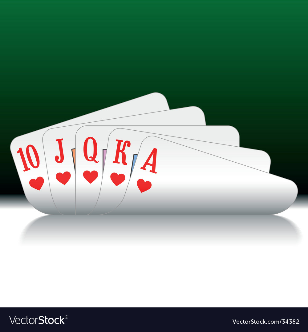Royal flush vector image