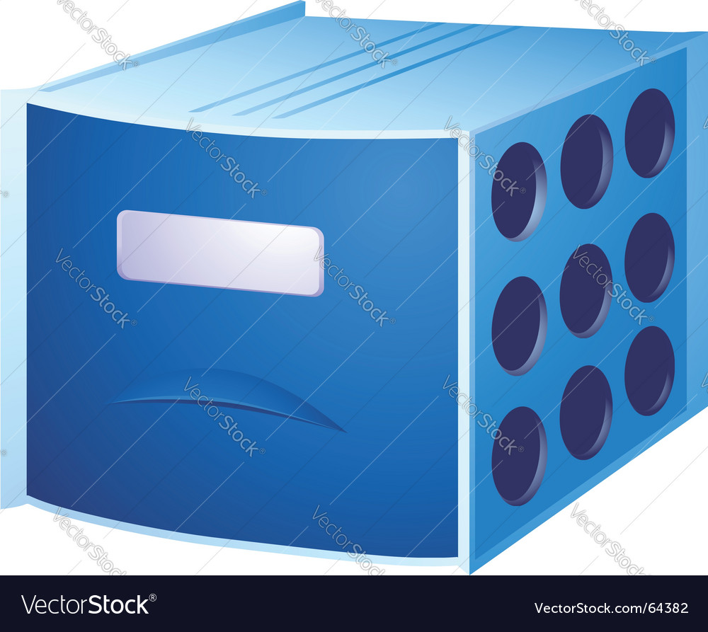 Card file vector image