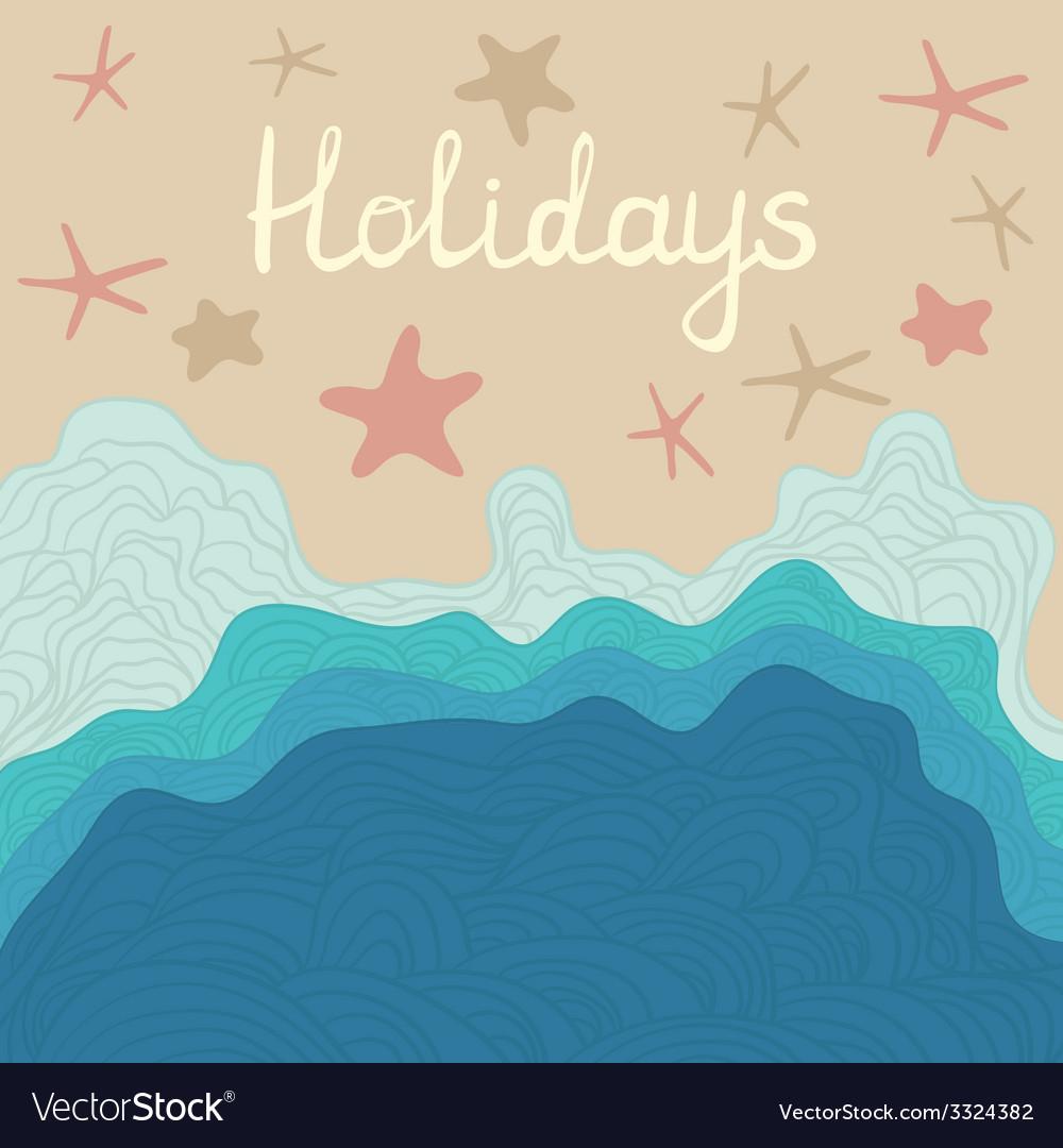 Beachholidays vector image