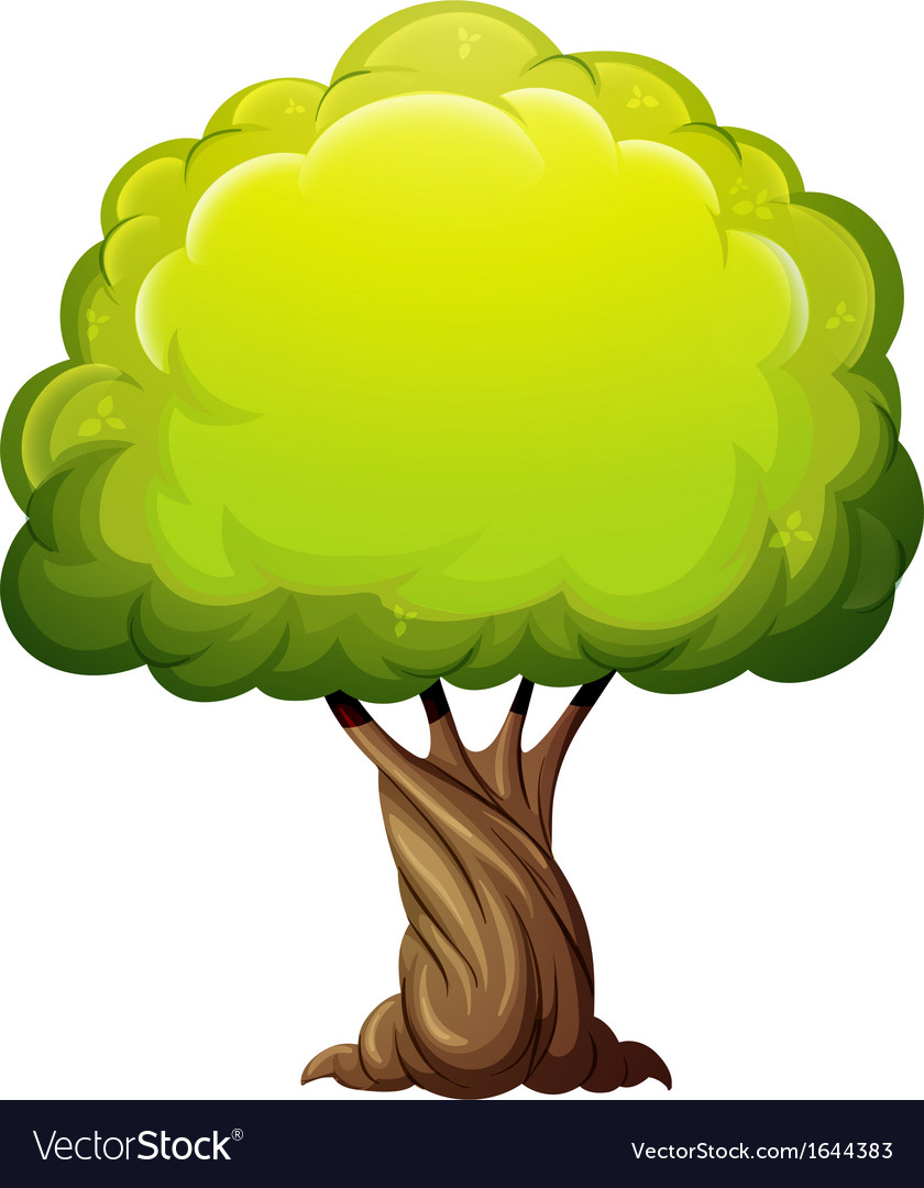 An old giant tree vector image