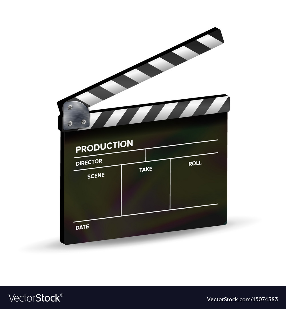 clapper board template clapboard movie royalty free vector, Powerpoint templates